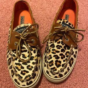 Cheetah print Sperry's